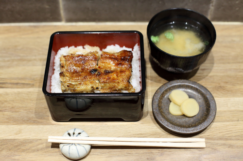 Eel over rice (small  with sauce)  Unagi Aburi Ittetsu  Kenmare St  Manhattan