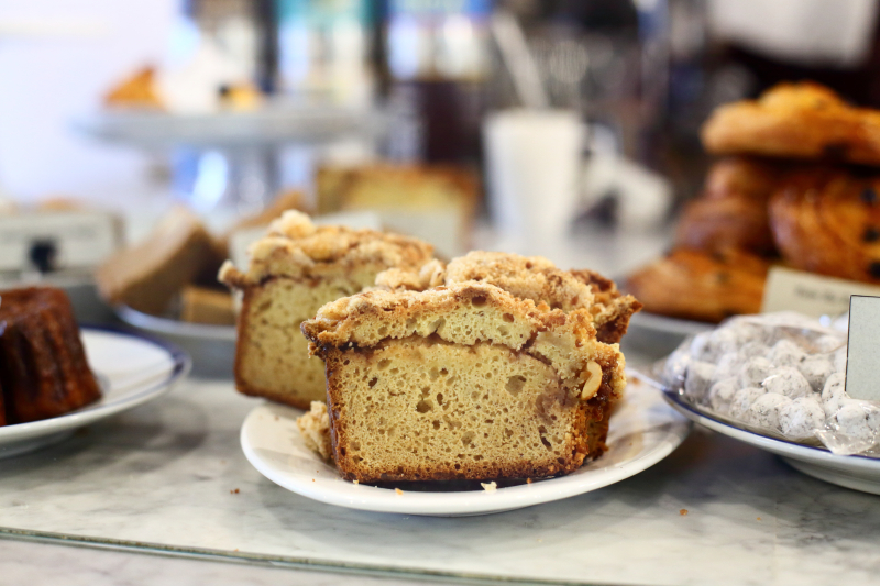 Peanut butter and jelly crumb cake  Der Pioneer  Prospect Park South  Manhattan