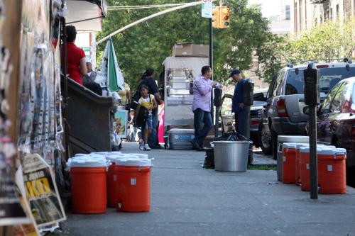 Habichuelas con dulce cart  Washington Heights  New York