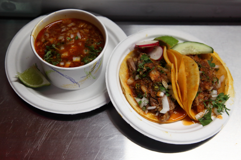 Consomé and tacos  Birria-Landia NYC  Jackson Heights  Queens