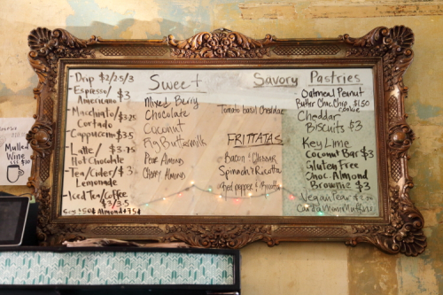 Handwritten menu  Pels Pie  Prospect Lefferts Gardens  Brooklyn