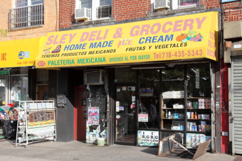 Sley Deli & Grocery  home made ice cream with paleta I and snowcapped letters  Borough Park  Brooklyn