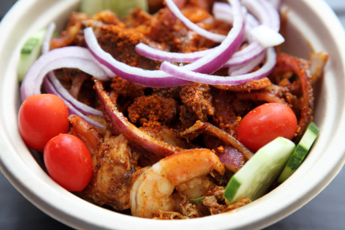 Steak  shrimp  and chicken suya  Brooklyn Suya  Crown Heights  Brooklyn