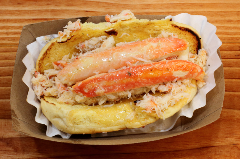 Crab roll with garlic butter  The Crabby Shack  Clinton Hill  Brooklyn
