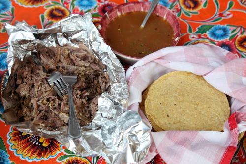Lamb barbacoa  consomme  and tortillas  South Philly Barbacoa  Philadelphia