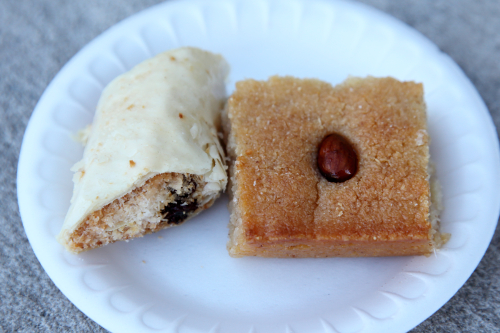 Baklava and basbousa  Coptic Egyptian Spring Festival  St Mary and St Antonios Coptic Orthodox Church  Ridgewood  Queens