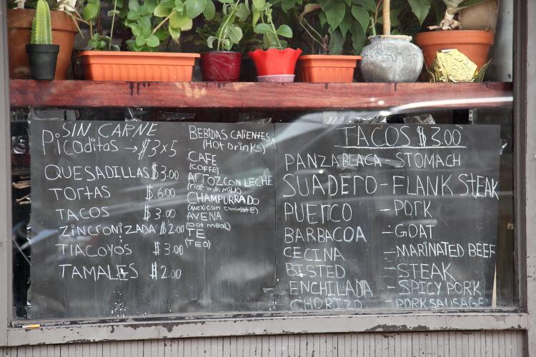 Window menu  Deli El Bigotes  East Flatbush  Brooklyn