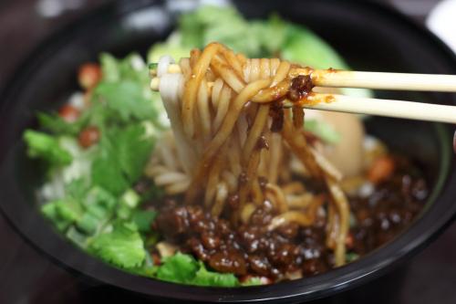 Fried sauce noodle (zha jiang mian)  Flower Brook Mifen House  Friendship Shopping Plaza  Flushing  Queens