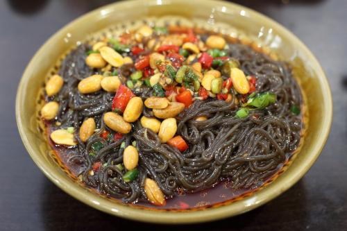 Sour and spicy fern-root noodles  Yu Kitchen  Broadway  Manhattan