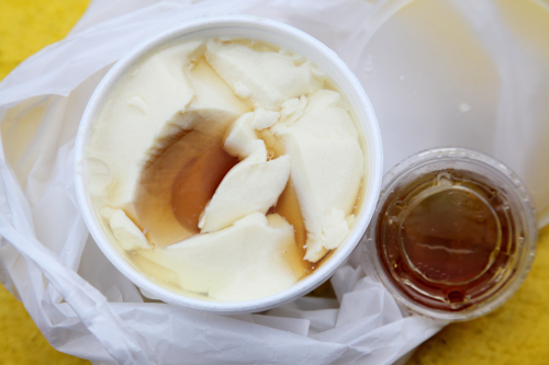 Hot taho (soy custard) with syrup added  Fong On  Division St  Manhattan
