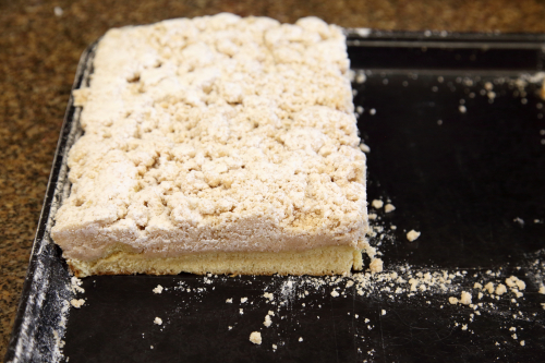Crumb cake  Spindler's Bake Shop  Hasbrouck Heights  New Jersey