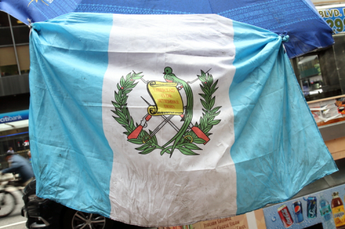 Guatemalan flag  Shúkos Somasdiez Guatemala  East 49th St  Manhattan