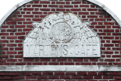 Surviving signage for Martens Cafe  Dumbo  Brooklyn