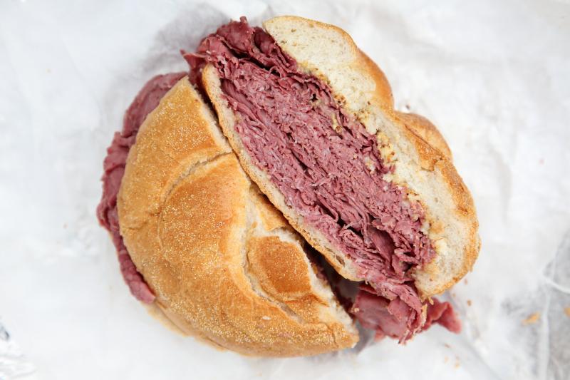 Corned beef sandwich  Elaine's Avenue M Deli  Midwood  Brooklyn
