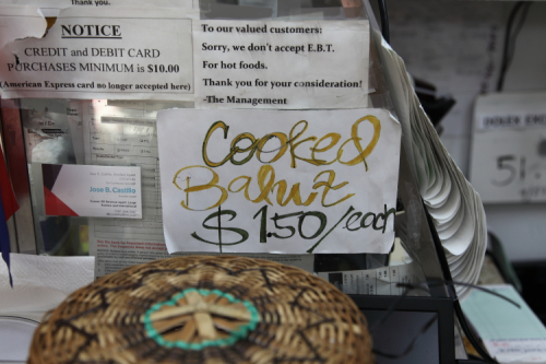 Cooked balut  handwritten sign  Phil-Am Foods  Rosebank  Staten Island
