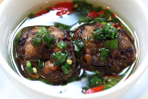Mushroom-taro balls in nước mắm  Di An Di  Greenpoint  Brooklyn