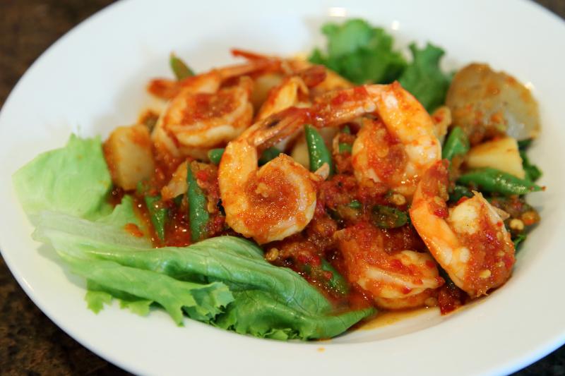 Buncis udang pedas  spicy shrimp with green beans  Jembatan 5  Philadelphia