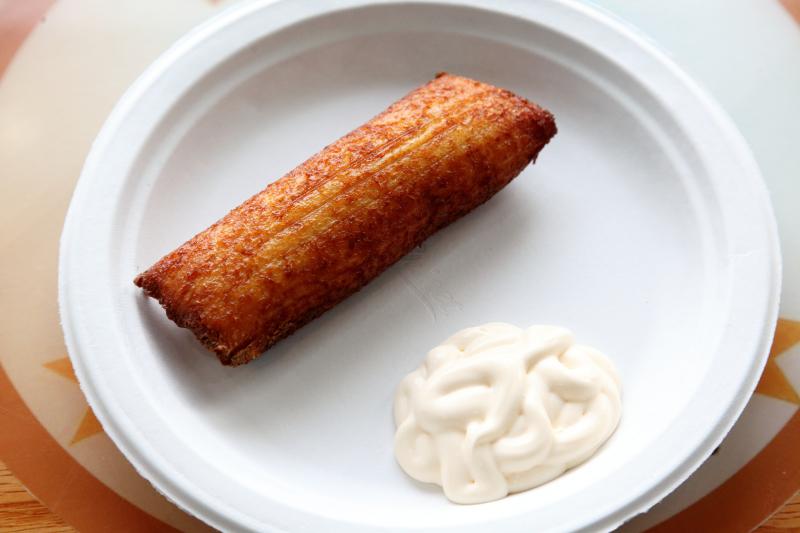 Fried tamal de elote  Mirna's Pupuseria  Flatbush  Brooklyn