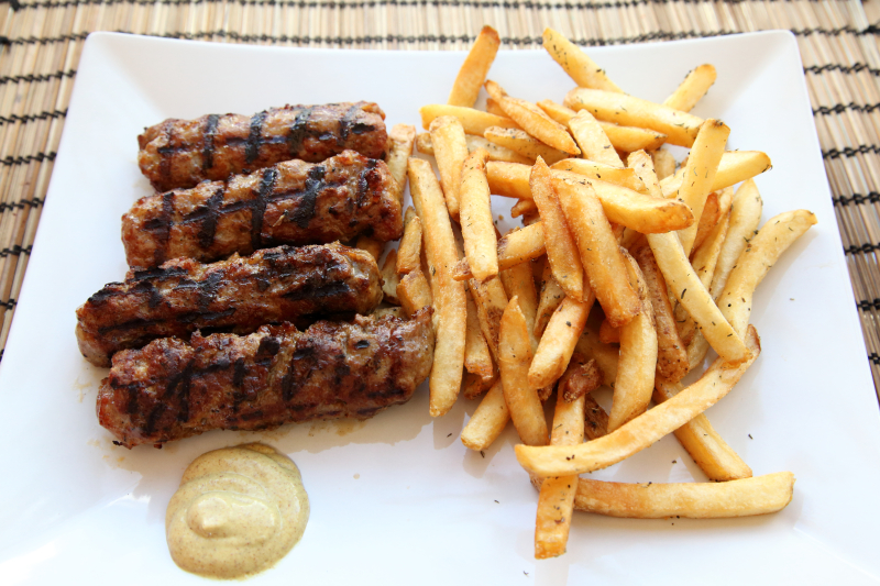 Dracula sausages and fries  House of Gyro & Shawarma  Ridgewood  Queens