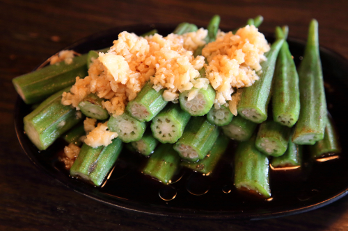 Garlic okra  Friendship BBQ  Flushing  Queens