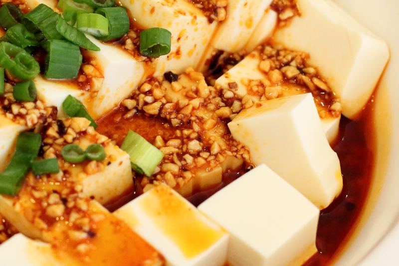 Silken tofu with fresh scallion  Little Pepper  College Point  Queens