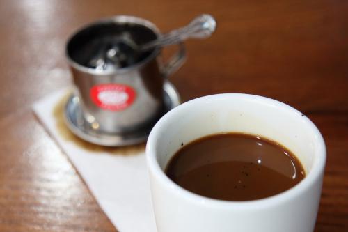 Cafe sua  Vietnamese condensed milk coffee (hot)  Just Pho  West 31st St  Manhattan