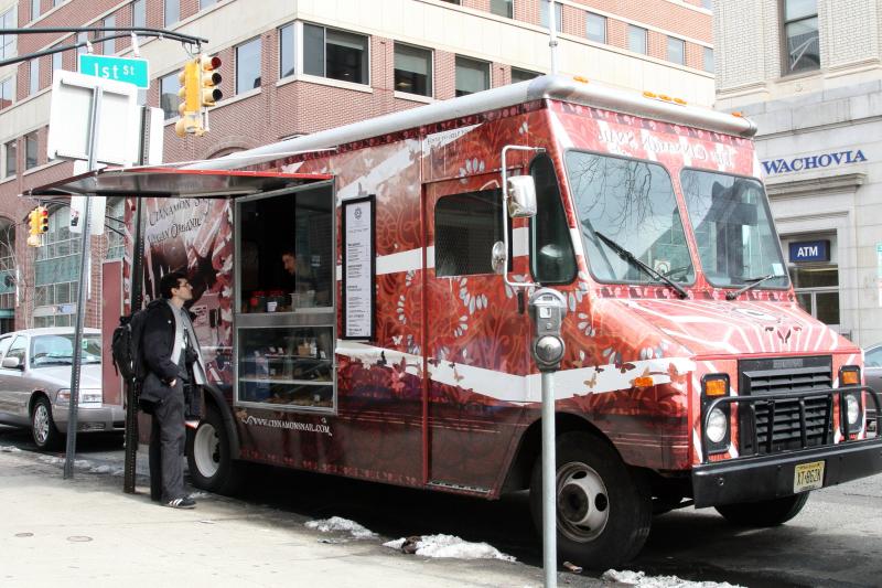 The Cinnamon Snail street-food truck  Hoboken  New Jersey