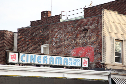 Coca-Cola  Cinerama  surviving signage  Bayonne  New Jersey