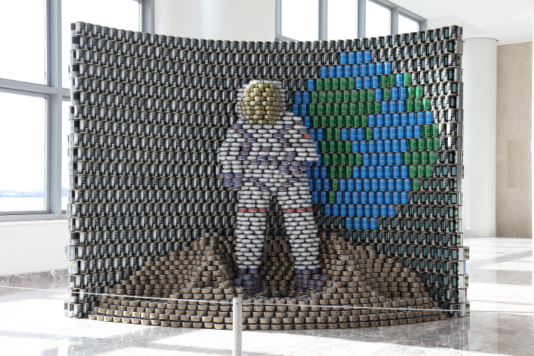 For All CANkind (GenslerHunger CAN Gogh (Gannett Fleming Engineers and Architects  2019)  Canstruction  Brookfield Place  Vesey St  Manhattan