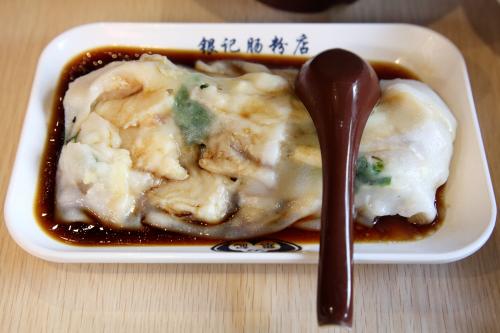 Rice noodle roll with sliced fish  Yin Ji Chang Fen  Bayard St  Manhattan