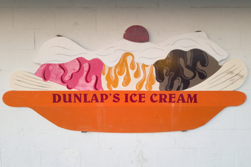 Sundae artwork  Dunlap's Ice Cream  Seabrook  New Hampshire