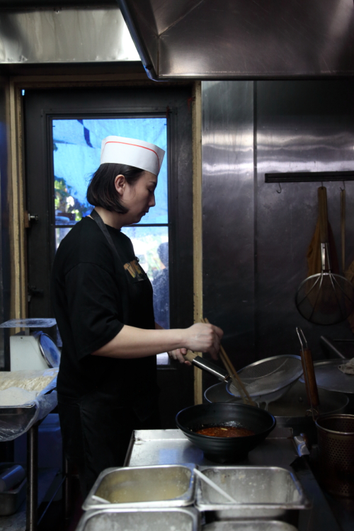 Chef and partner Tingting Li  200 Gram Noodles  Flushing  Queens