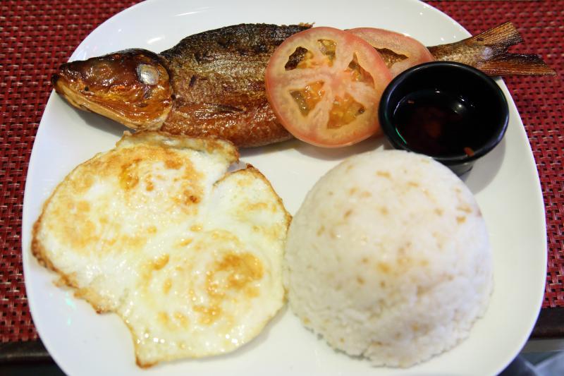 Tinapasilog  featuring smoked milkfish  Grill 21  East 21st St  Manhattan