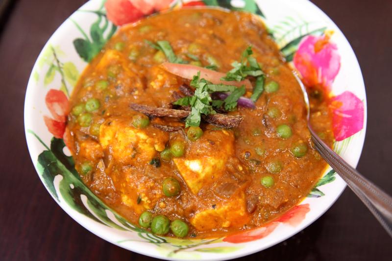 Matar paneer  Angel Indian Restaurant  Jackson Heights  Queens
