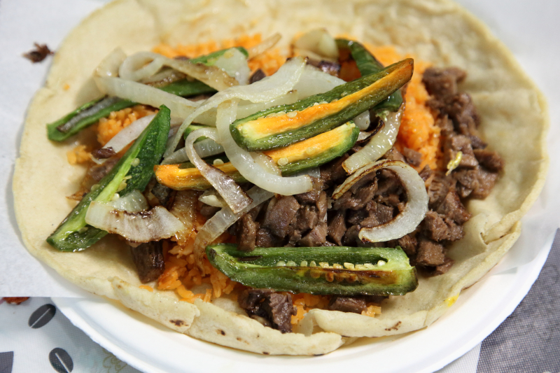 Taco placero with lengua  San Pedro Deli  Greenwood Heights  Brooklyn
