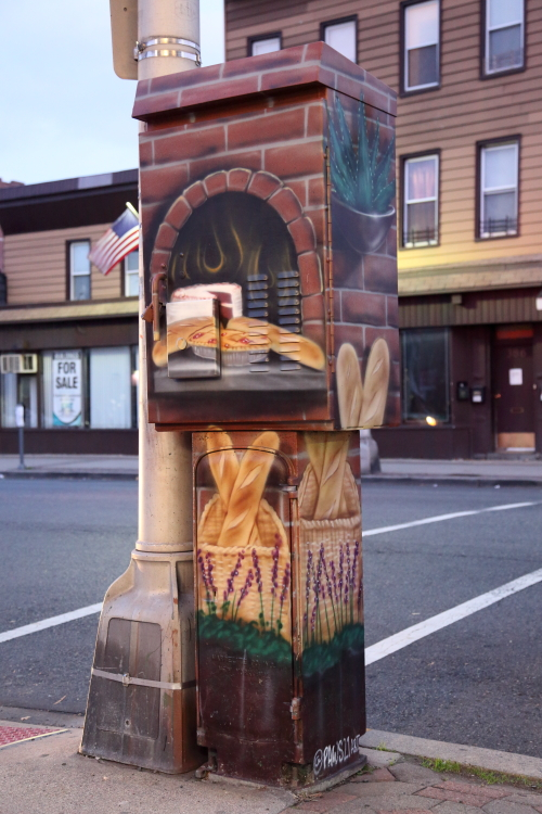 Hand-painted traffic-control box (Paws21  2018)  Bayonne  New Jersey