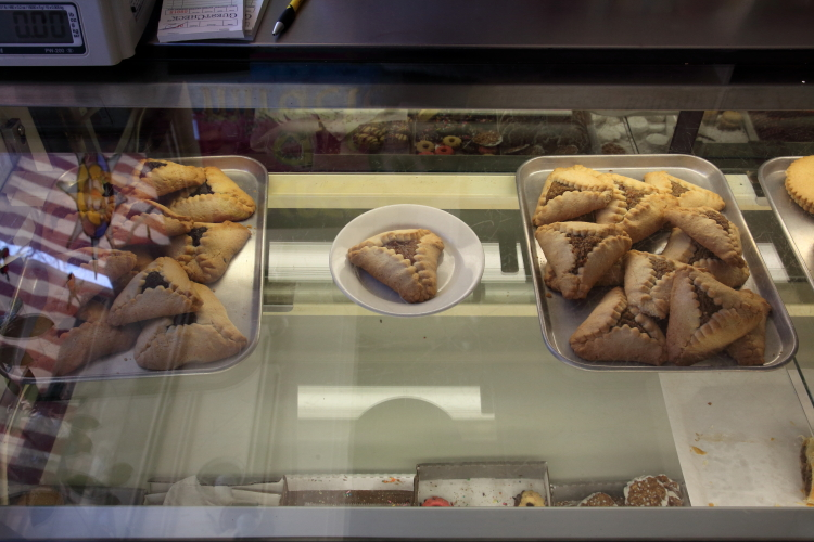 Display case (days before Covid-related hiatus)  Hungarian Pastry Shop  Amsterdam Ave  Manhattan