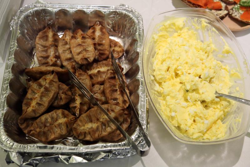 Karelian pastries and egg butter  Finnish Christmas Fair  St John's Lutheran Church  Christopher St  Manhattan