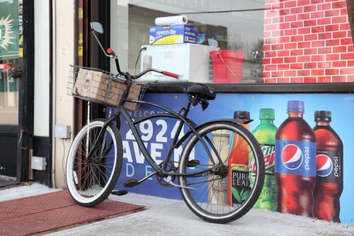 Delivery cycle  Elaine's Avenue M Deli  Midwood  Brooklyn