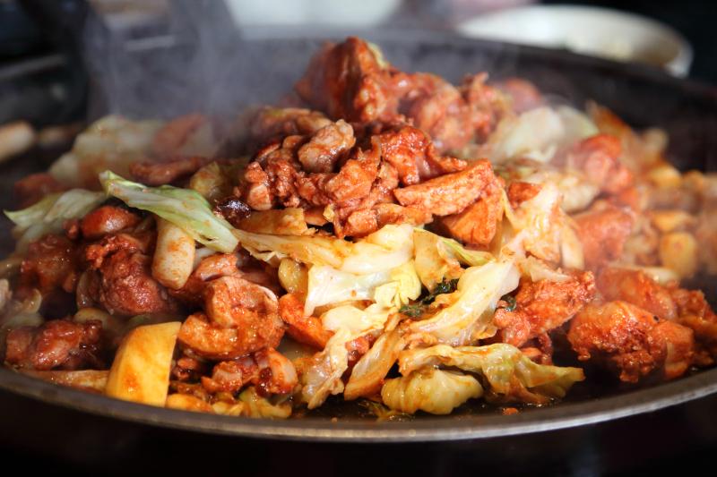 Dak galbi  spicy stir-fried chicken  Doraon 1 point 5 Dak Galbi  Murray Hill  Queens