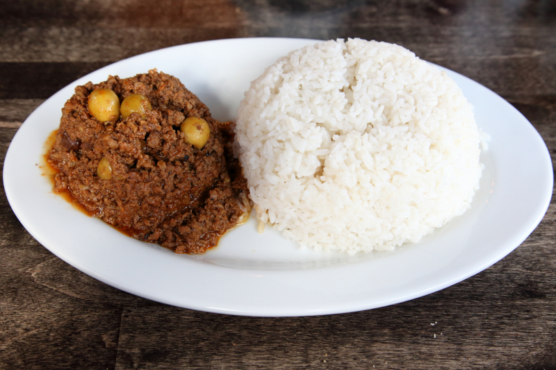 Picadillo and white rice  Havana Heights  Broadway  Manhattan