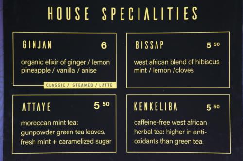 House specialities  Ginjan Cafe  East 125th St  Manhattan