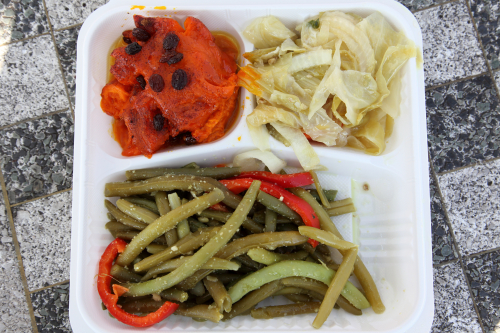 Candied yams  cabbage  and string beans  Sweet Mama's  Lenox Ave  Manhattan