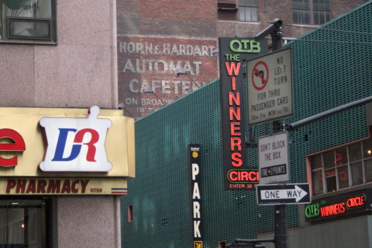 Horn & Hardart Automat Cafeteria  surviving signage  West 38th St  Manhattan