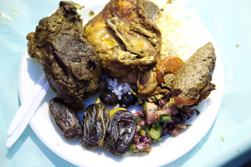 Sampler plate  annual iftar feast  Balady Foods  Bay Ridge  Brooklyn