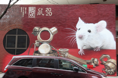 Year of the Rat mural (BKFoxx for East Village Walls  2020)  Eldridge St  Manhattan