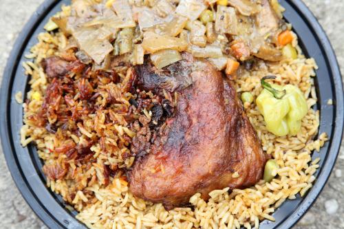 Thiebou guinar  Senegalese rice with chicken  J Restaurant Chez Jacob  Frederick Douglass Blvd  Manhattan