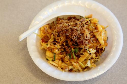 Tofu thoke  Burmese yellow tofu salad  LDBA Thingyan festival  Elmhurst  Queens
