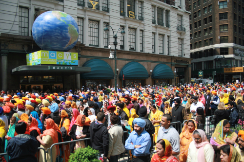 Marchers in the Sikh Day Parade  Broadway