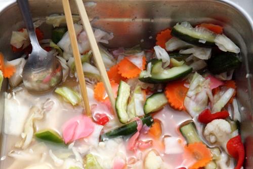 Pickled vegetables  Khmer New Year celebration  Wat Jotanaram  Bedford Park  Bronx